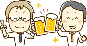 ブログ記事画像_ビールで乾杯