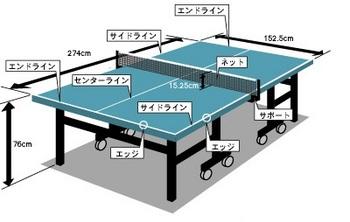 卓球台サイズ