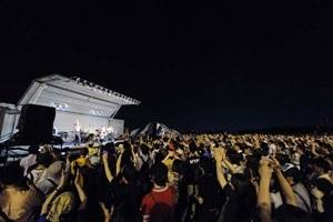 横田基地友好祭_夜の野外ステージ