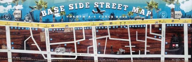 横田基地商店街エリアマップ