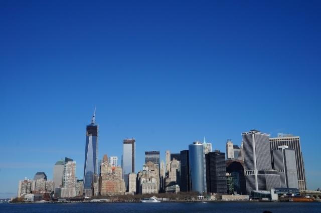 ニューヨーク_ビル街