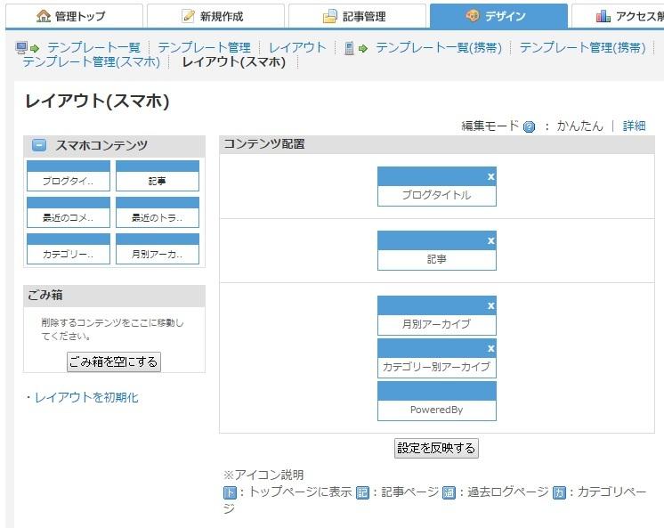 ブログ記事画像_スマートフォンレイアウト管理画面
