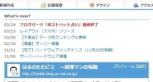 ブログ記事画像_ソネットブログ管理画面_What's new
