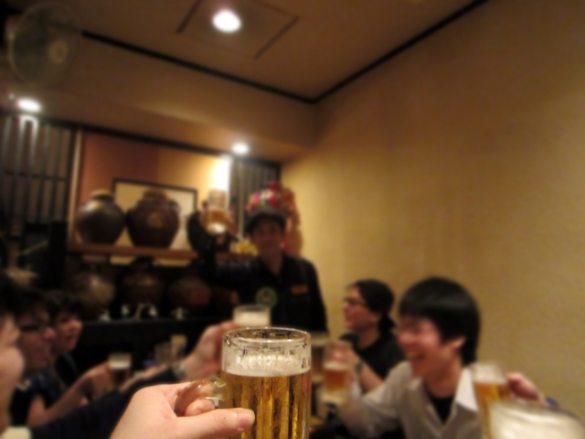 宴会の乾杯